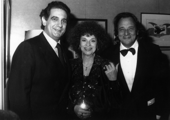 With Placido Domingo and Riz Ortolani
