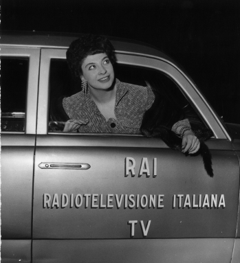 As a guest on a RAI program, 1956