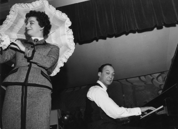 Con Alberto Semprini, Sanremo 1954.