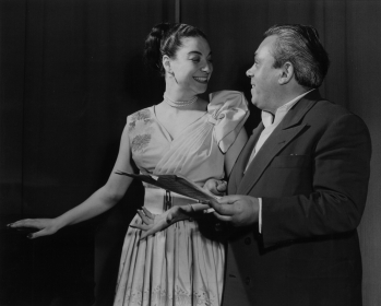 With Maestro Durand, Paris 1955