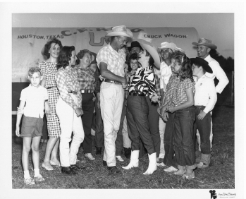 Party in Katyna's honor on the farm belonging to the US millionaire Mr. Robert Sunder, Houston 1966